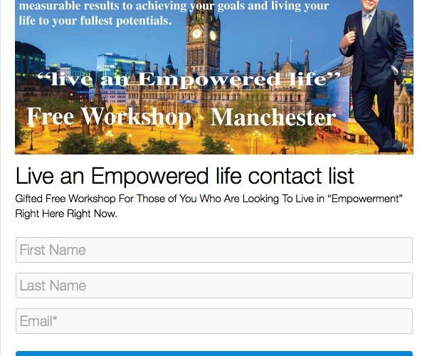 Live an empowered life free workshop Manchester